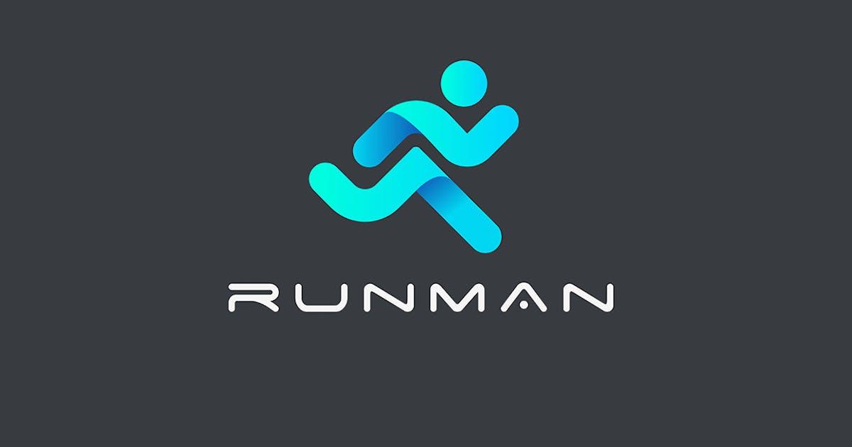 Download Logo Running Man Delivery Sport emblem by Sentavio