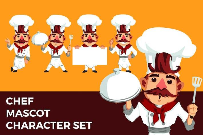 Thumbnail for Chef Mascot Character Set