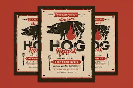 Pig Roast Event Flyer