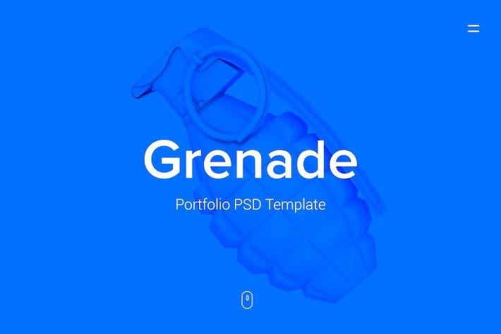 Thumbnail for Grenade - Portfolio PSD Template