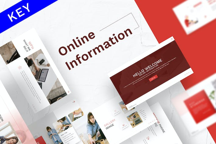 Thumbnail for Online Information Keynote Template
