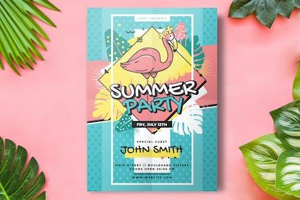 Sommer Flyer Party Vorlage
