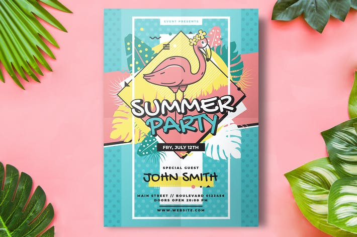 Thumbnail for Summer Flyer Party Template