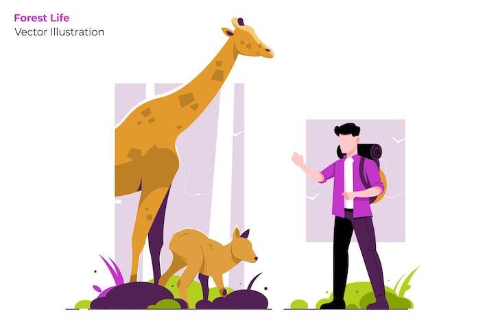 Thumbnail for Waldleben - Vektor illustration