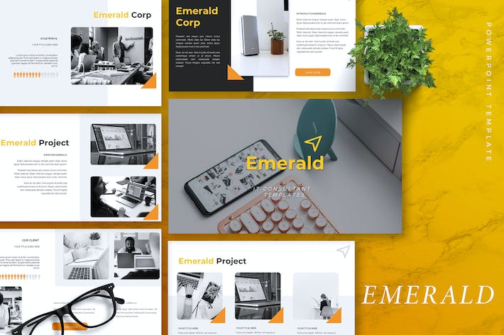 Thumbnail for EMERALD - IT Company Powerpoint Template