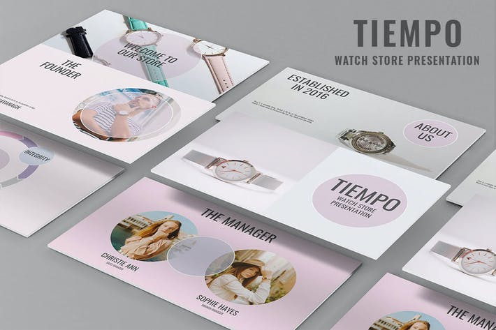 Thumbnail for Tiempo - Watch Store PowerPoint Presentation