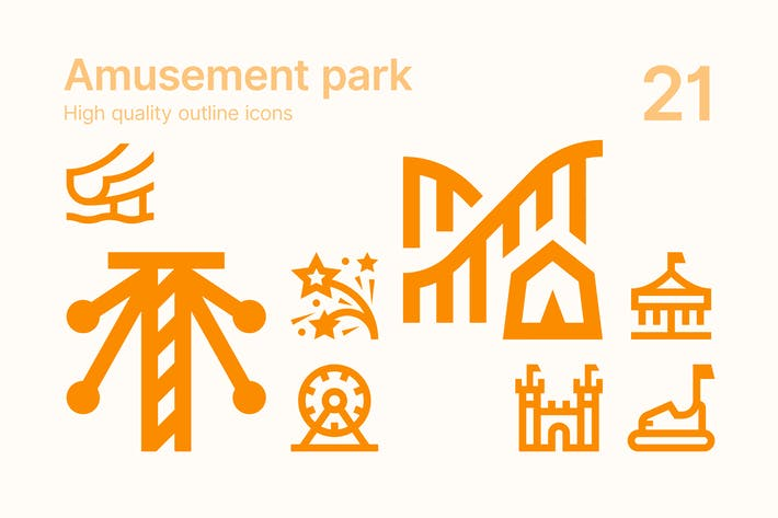 Thumbnail for Amusement Park Icons