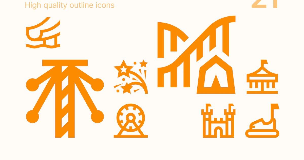 Download Amusement Park Icons by polshindanil