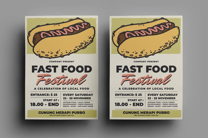 Thumbnail for Fast Food Flyer Design.20