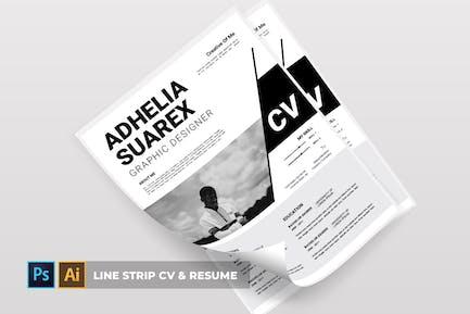 Line Strip   CV & Resume