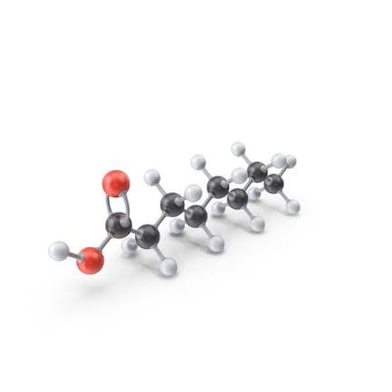 Caprylic Acid Molecule