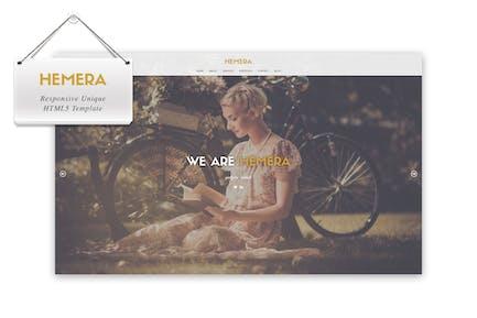 Hemera - Responsive Unique HTML 5 Template