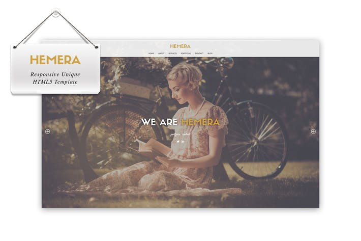 Thumbnail for Hemera - Responsive Unique HTML 5 Template