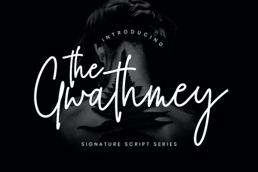 The Gwathmey Signature Wedding Font