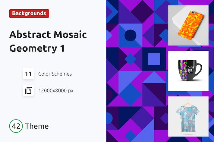 Thumbnail for Backgrounds Abstract Mosaic Geometry 1