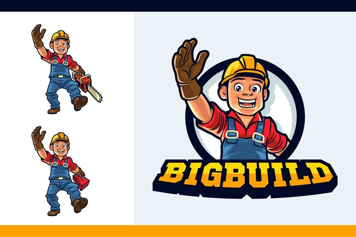Thumbnail for Cartoon Friendly Logger Mascot Character Logo
