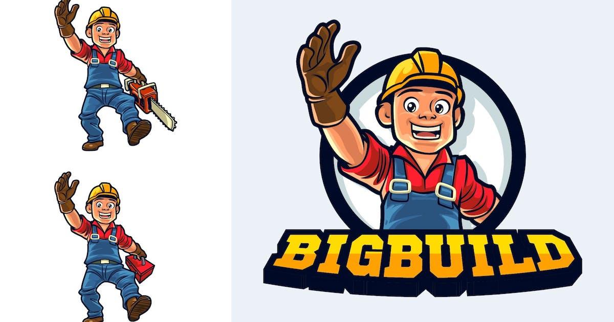 Download Cartoon Friendly Logger Mascot Character Logo by Suhandi