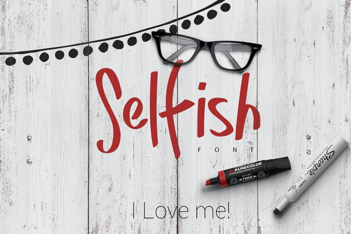 Cover Image For Selfish Font