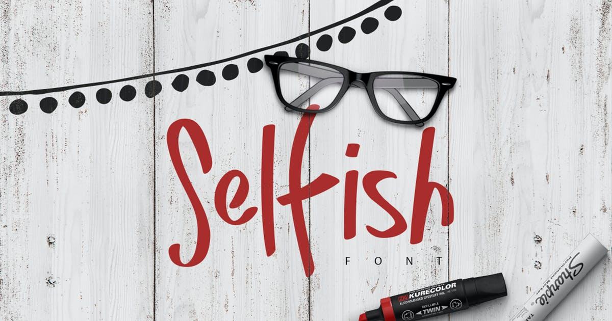 Download Selfish Font by PereEsquerra