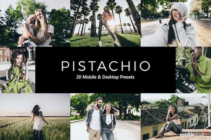 Thumbnail for 20 Pistachio Lightroom Presets & LUTs