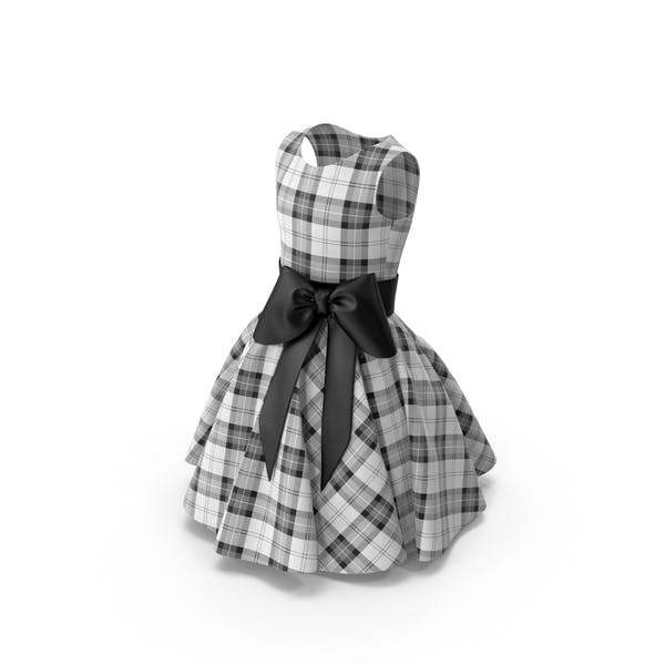 Thumbnail for Tartan Dress with Bow