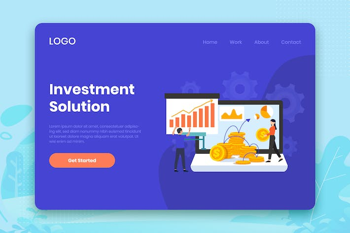 Cover Image For Investment Solution landing page template