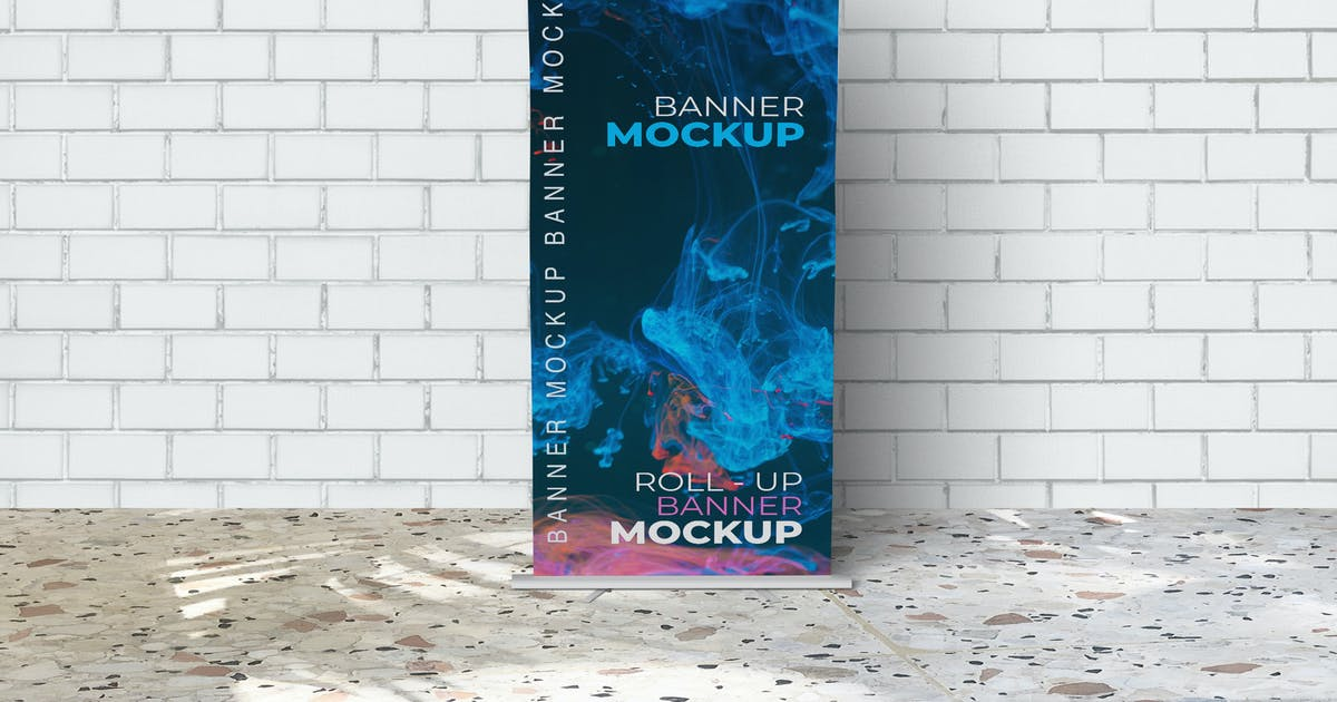 Download Roll Up Banner Mockups by UnicodeID
