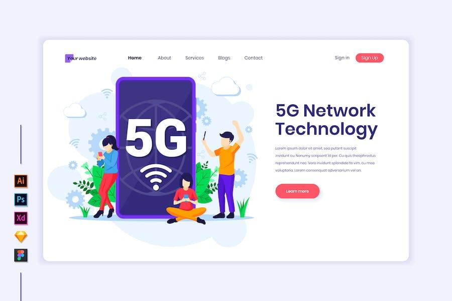 5G Network Technology Illustration - Agnytemp
