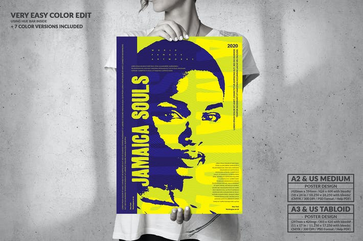 Jamaica Souls - Big Music Poster Design