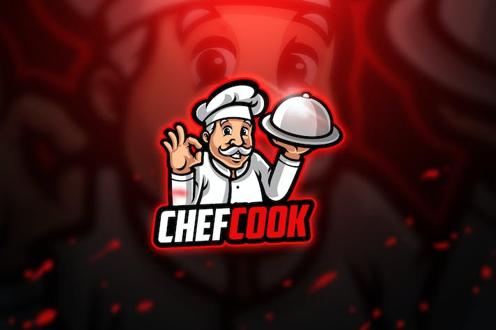 Thumbnail for Chefcook - Mascot & Esport Logo