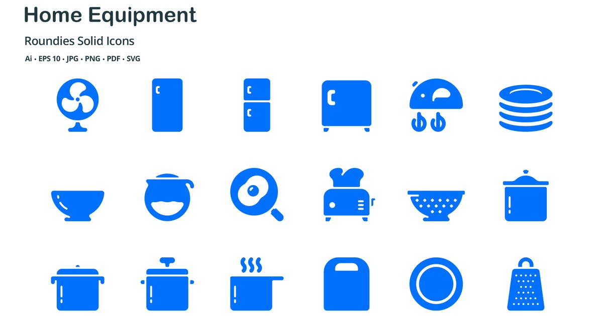 Download Home Equipment Roundies Solid Glyph Icons by roundicons