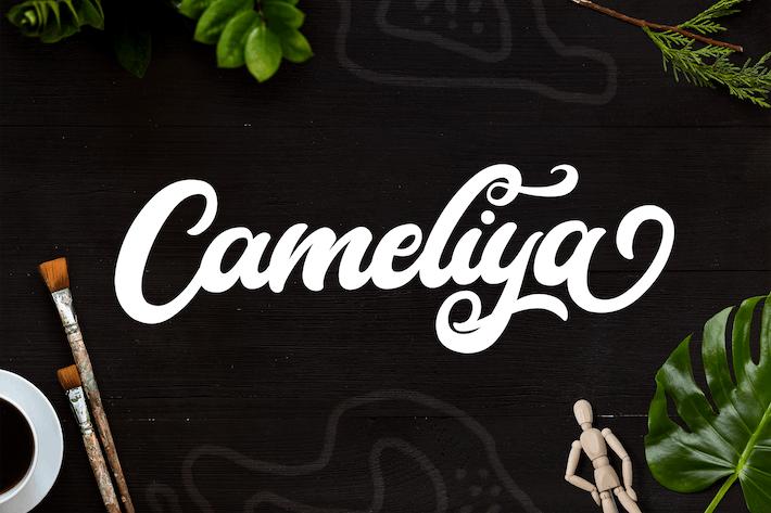 Thumbnail for Cameliya - Fuente de script en negrita