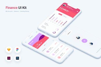 Finance Bank Mobile App UI Kit Template