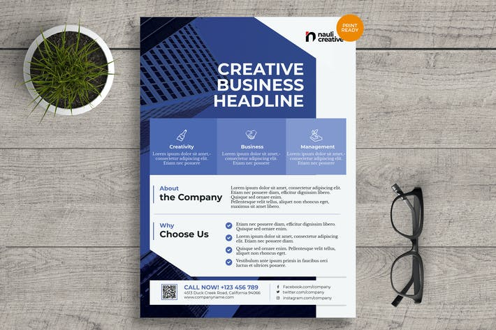 Thumbnail for Corporate Business Flyer PSD and Vector Vol.11