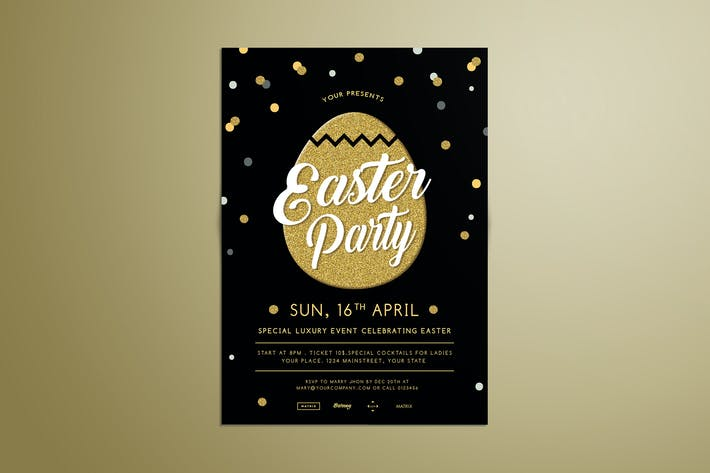 Thumbnail for Easter Gold Party Flyer