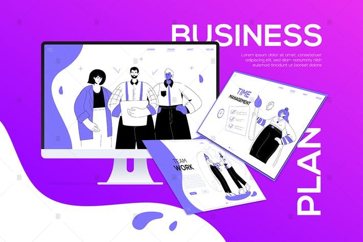 Thumbnail for Business plan - flat design style web banner