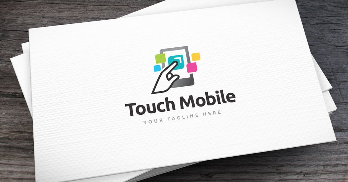 Download Touch Mobile Logo Template by empativo