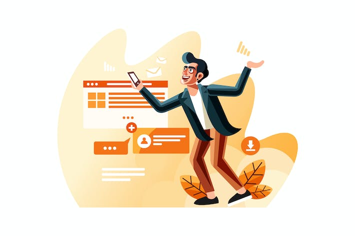 Thumbnail for Internet users vector illustration