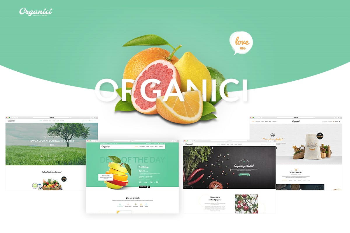 Download Organici - Organic Store PSD Template by NooThemePSD by Unknow