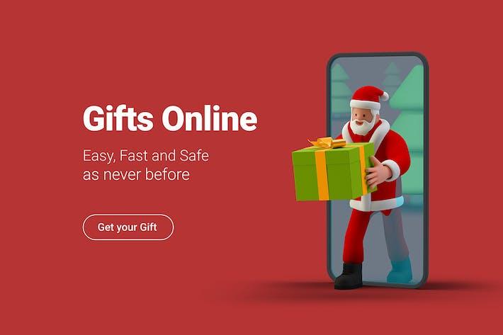 Thumbnail for Санта дарит подарок от онлайн-продажи смартфона