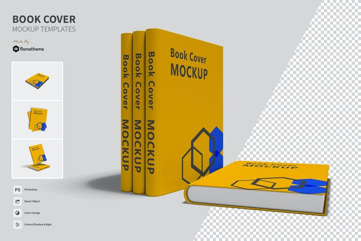 Thumbnail for Book Cover - Mockups Template VR