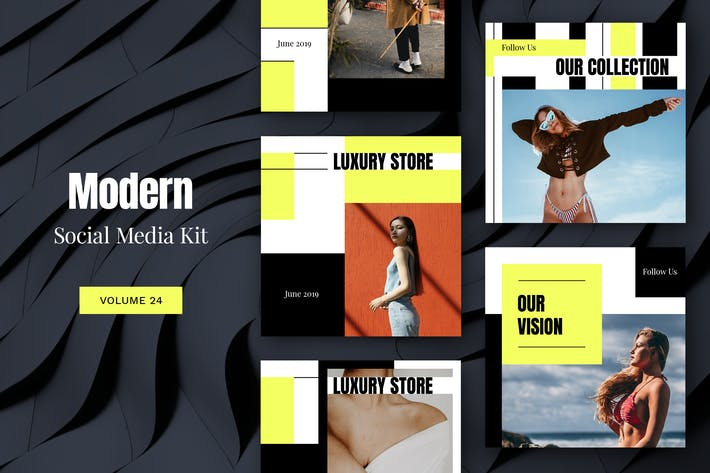 Thumbnail for Modern Social Media Kit (Vol. 24)