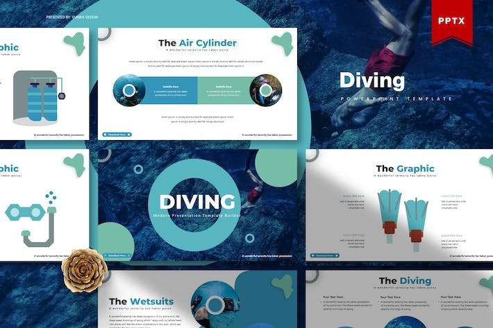 Thumbnail for Diving | Powerpoint Template
