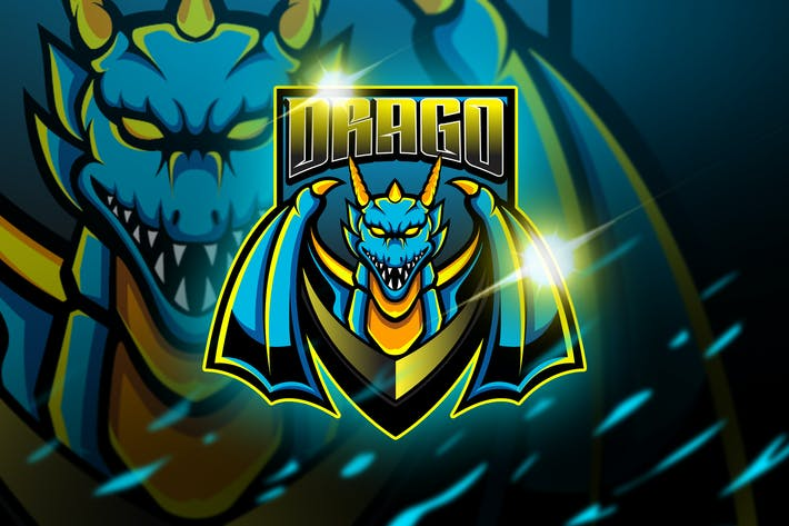 Thumbnail for Drago - Mascot & Esports Logo