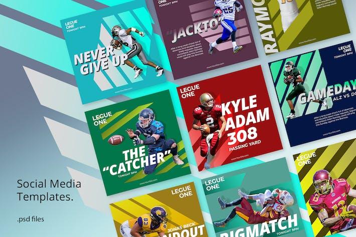 Thumbnail for Kit de médias sociaux Sport Élégant
