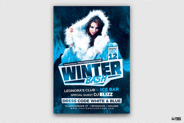 Thumbnail for Winter Bash Flyer Template V3