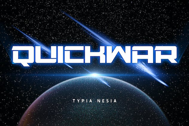 Quickwar - Techno and Sport Racing Font