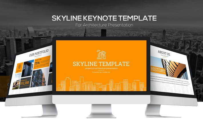 Thumbnail for Skyline Keynote Template
