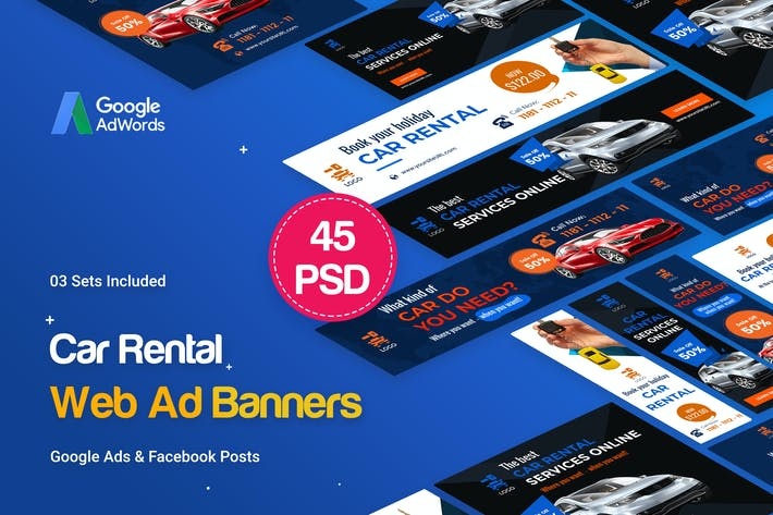 Thumbnail for Car Rental Banners Ad