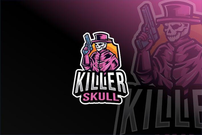 Thumbnail for Killer Skull Esport Logo Template